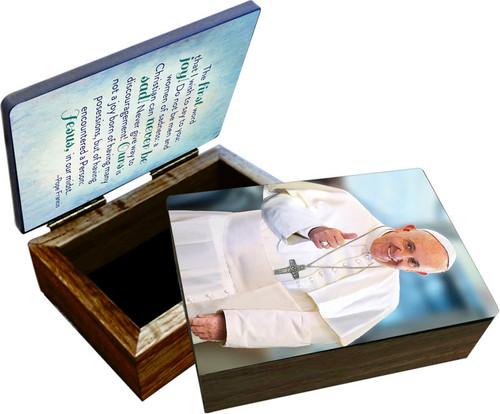 Pope Francis Thumbs Up Keepsake Box