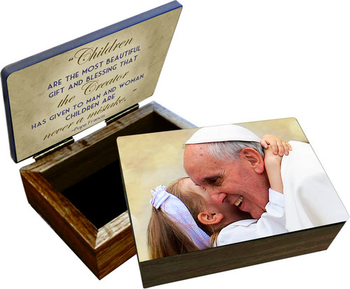 Pope Francis with Child Keepsake Box
