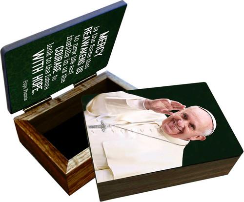 Pope Francis Waving Keepsake Box