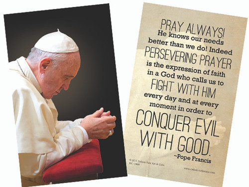 Pope Francis in Prayer Holy Card
