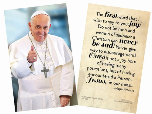 Pope Francis Thumbs Up Holy Card