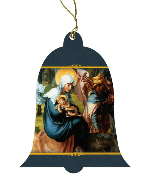 The Holy Family in Egypt by Nicolas Poussin Wood Ornament