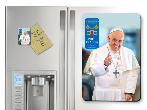 Pope Francis Thumbs Up Commemorative Apostolic Journey Magnet