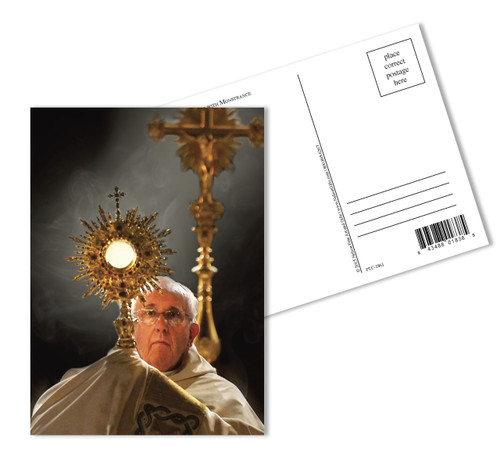 Pope Francis With Monstrance Postcards
