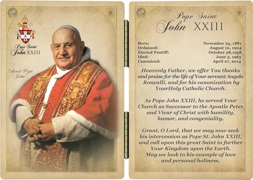 Pope St. John XXIII Prayer Diptych