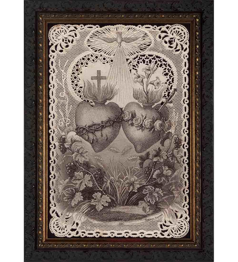 Catholic framed art prints catholic art catholic to the max sacred immaculate hearts framed art jeuxipadfo Image collections