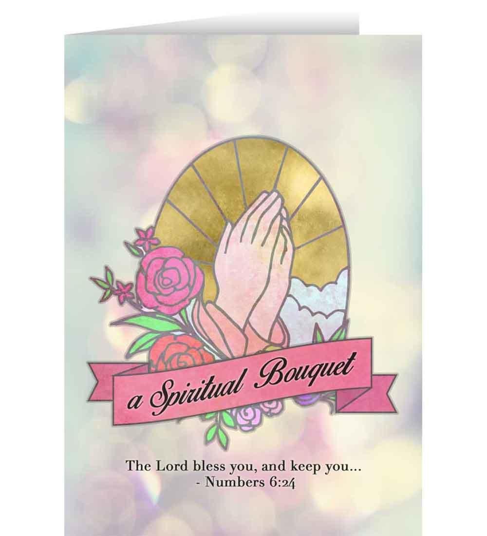 Catholic greeting cards spiritual bouquet greeting cards m4hsunfo
