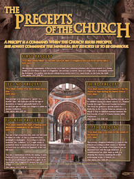 the precepts of the church explained poster catholic to