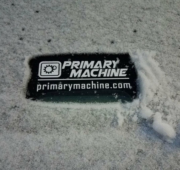 Primary Machine Die Cut Sticker