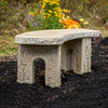 Stone Curved Bench