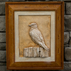 "Stone Picture ""Blue Bird on Perch"""