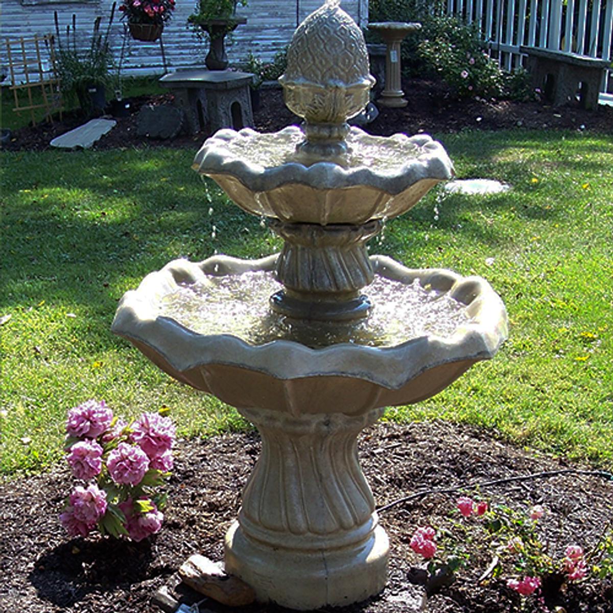 Athena's Flowering  Two Tier Fountain