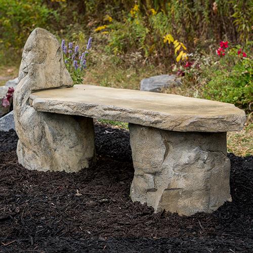 Cast Stone, Basalt Lounge Garden Bench