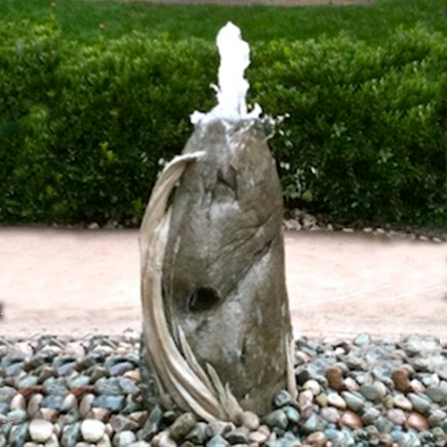 Stone Wheat Column Fountain