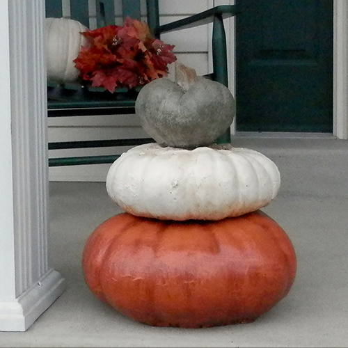 Original Stack of 3 Pumpkins