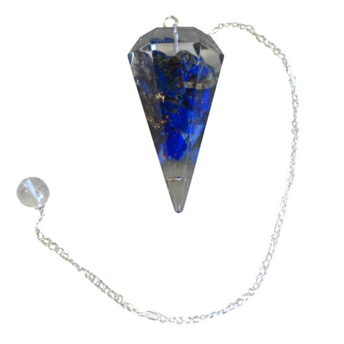Lapis Orgone Pendulum