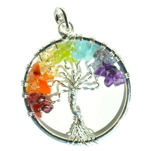 7 Chakra Tree Of Life Pendant Jewelry