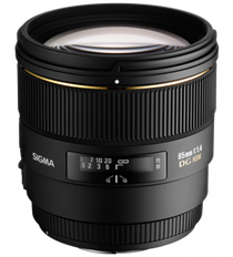 Sigma 85mm f/1.4 EX DG HSM Lens for Maxxum & Sony Alpha Mount - USA Warranty