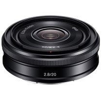 Sony 20mm F2.8 Alpha E-mount NEX Camera Lens, Black