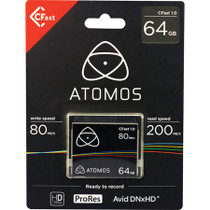 Atomos C-Fast 1.0 64GB Media Card for Ninja Star ProRes Recorder, 200MB/s Read and 80MB/s Write Speed