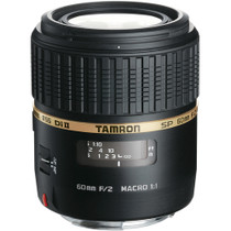 Tamron SP 60mm f/2 Di II 1:1 AF Macro Auto Focus Lens for Canon EOS, Nikon AF-D  and Sony DSLRs
