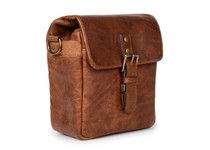 Ona Bond Leather Messenger Bag (Cognac)