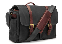 Ona Brixton Canvas Messenger Bag (Black)