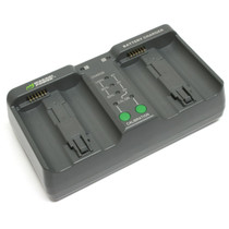 Wasabi Power Dual Battery Charger for Nikon MH-26, MH-26aAK, EN-EL18, EN-EL18a and Nikon D4, D4S, D5 (with Adapter for Canon LP-E4, LP-E4N)
