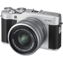 Fujifilm X-A5 Mirrorless Camera with XC 15-45mm OIS PZ Lens, Silver