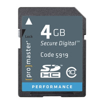 Promaster High Speed SDHC Secure Digital Memory Card -4GB