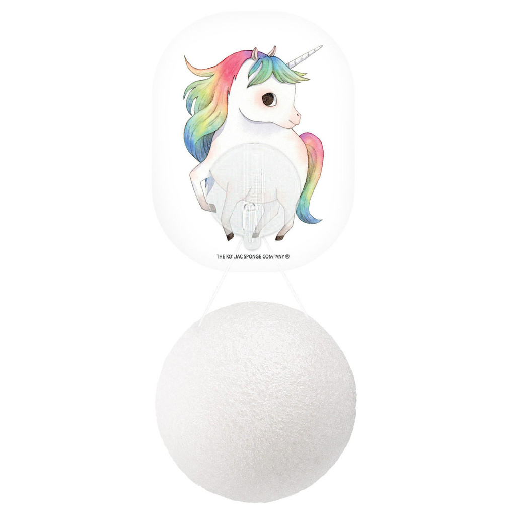 Mythical Prancing Unicorn Konjac Face Sponge & Hook - 100% Pure Konjac