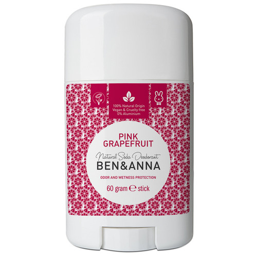 Natural Soda Deodorant Stick - Pink Grapefruit 60g