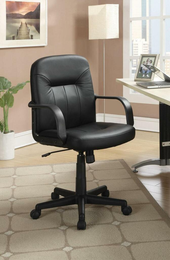 Leather-Like Office Chair in Black