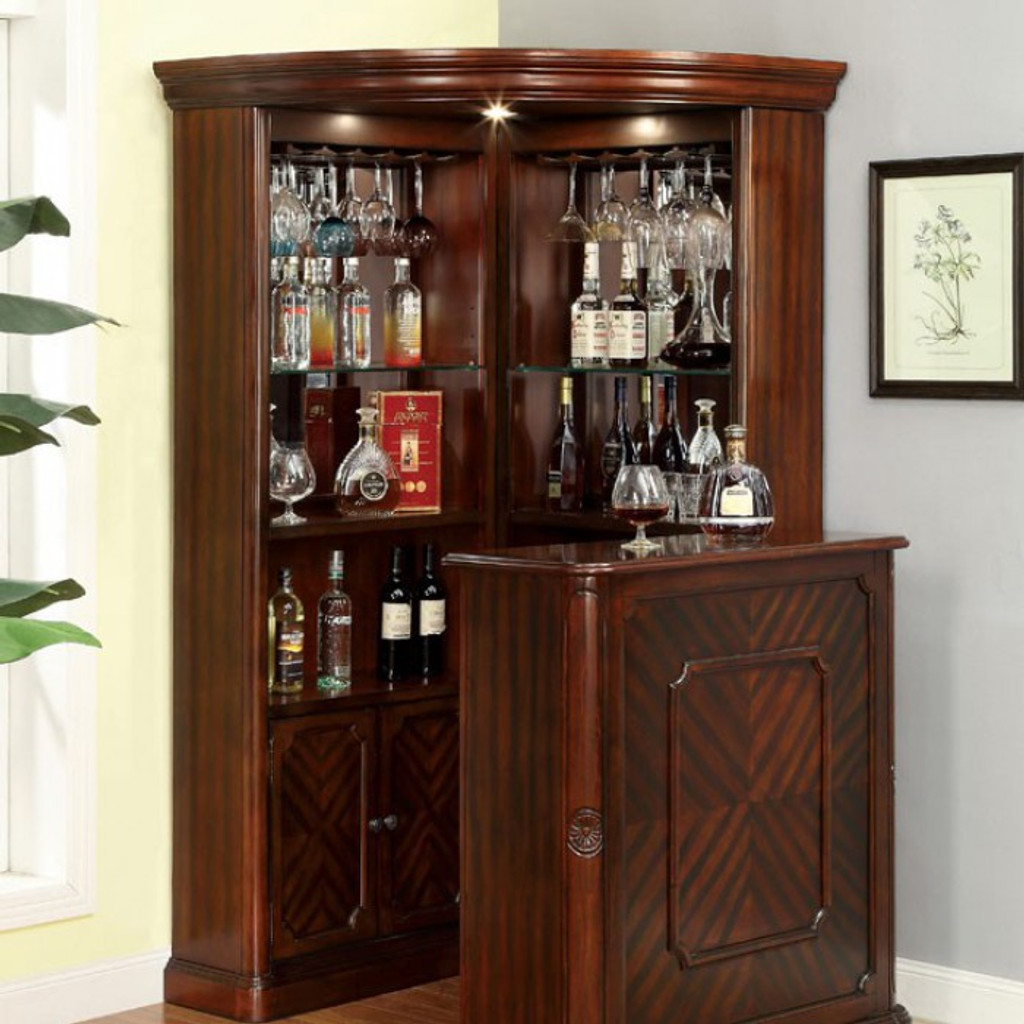 Cabinets For Home Bar: The Voltare 2PC Corner Bar