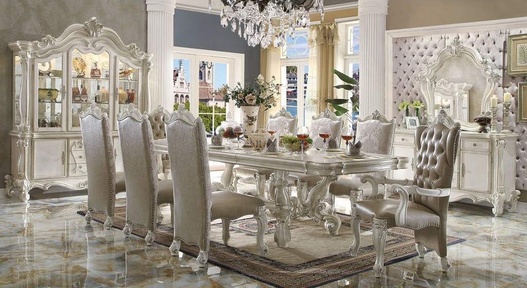 The Versailles White Royal Dining Room Collection - Miami Direct Furniture