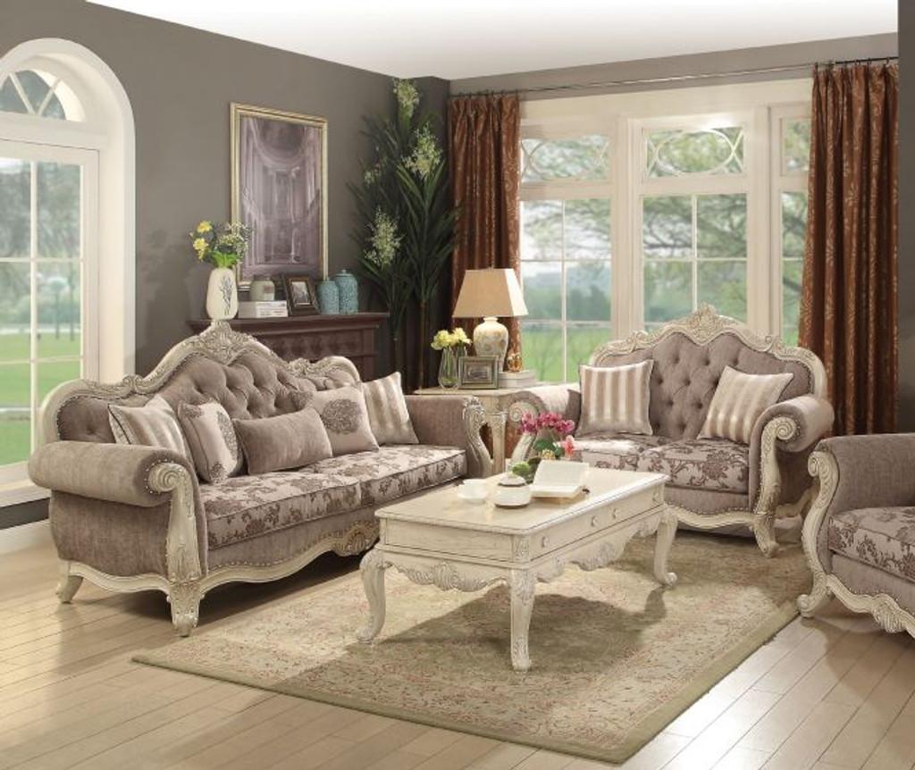 The Ragenardus Antique White Living Room Collection