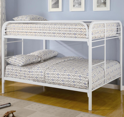The Fordhan White Full Over Full Bunk Bed