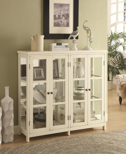 The Transitional Glass Cabinet