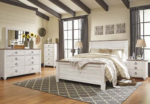 The 7pc Willowton Bedroom Collection