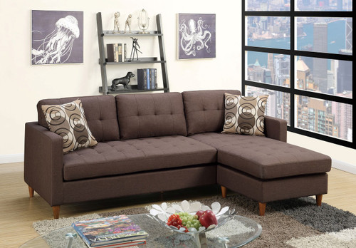 The Stalie Chocolate Reversible Sectional