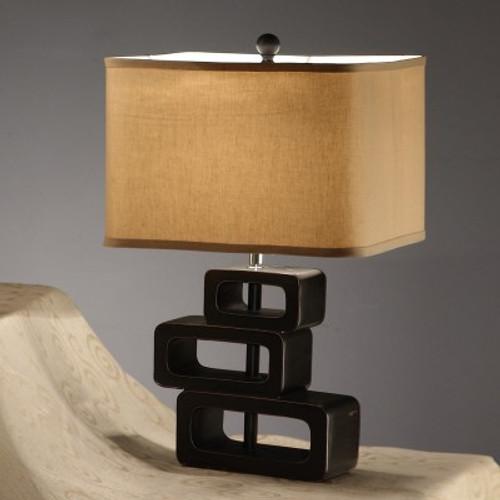 Khaki Polyresin Table Lamp