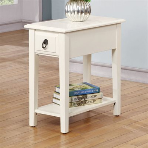The Jeana White Chairside Table