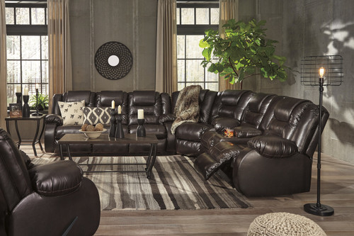 The Vacherie Chocolate Reclining Sectional