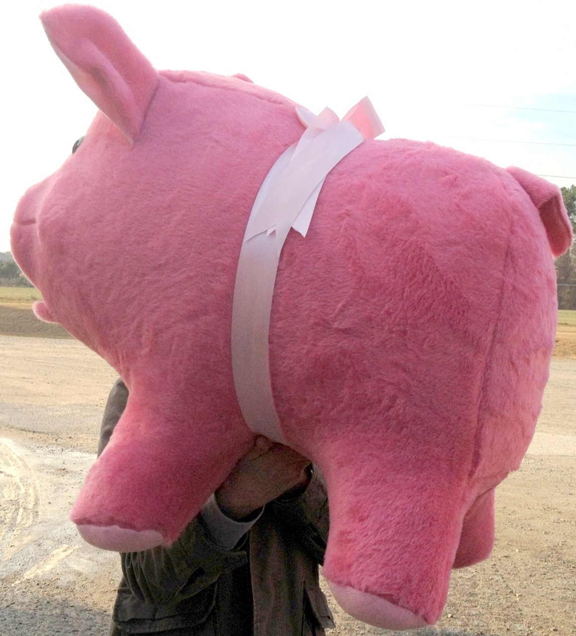 Giant Stuffed Pink Pig 32 Inches Soft Made In TheUSA