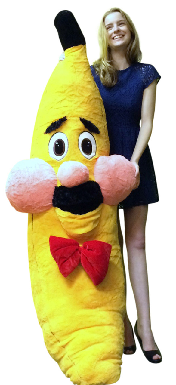 Giant Stuffed Banana With Mustache 6 Feet Tall Watch Out For The