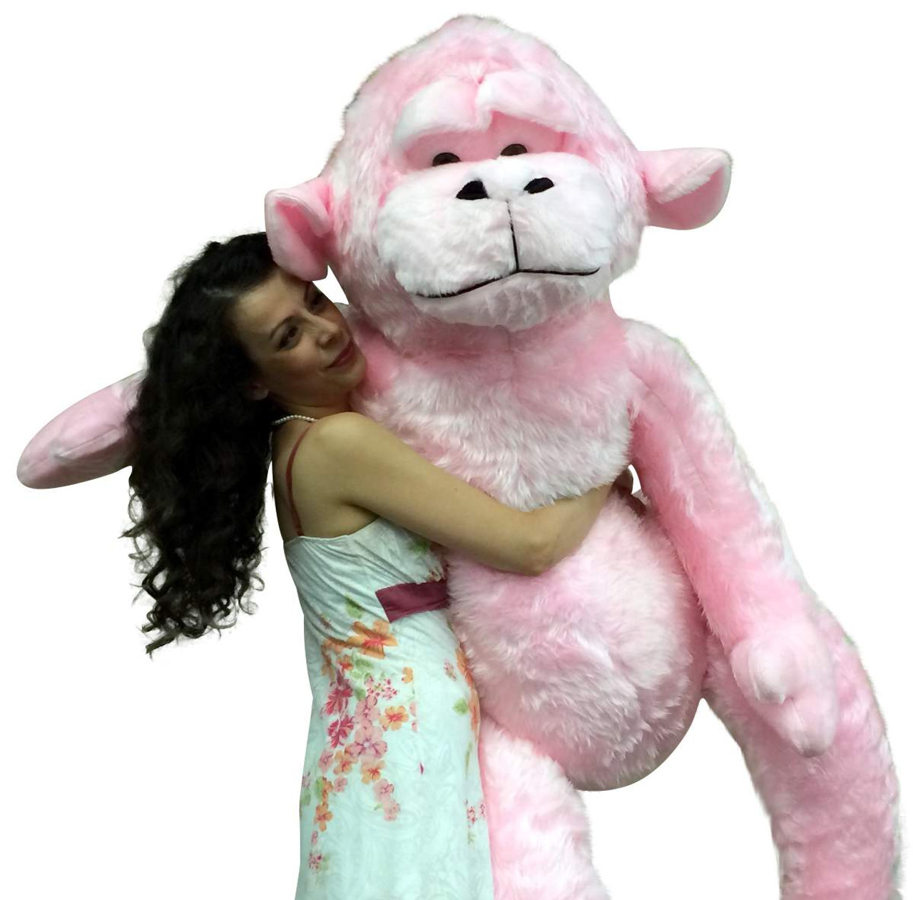 giant stuffed 6 foot pink gorilla 72 inch soft huge plush monkey made in usa big plush. Black Bedroom Furniture Sets. Home Design Ideas