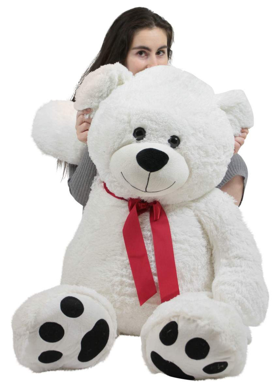 ed61260f2 ... Giant Teddy Bear 52 Inch White Soft