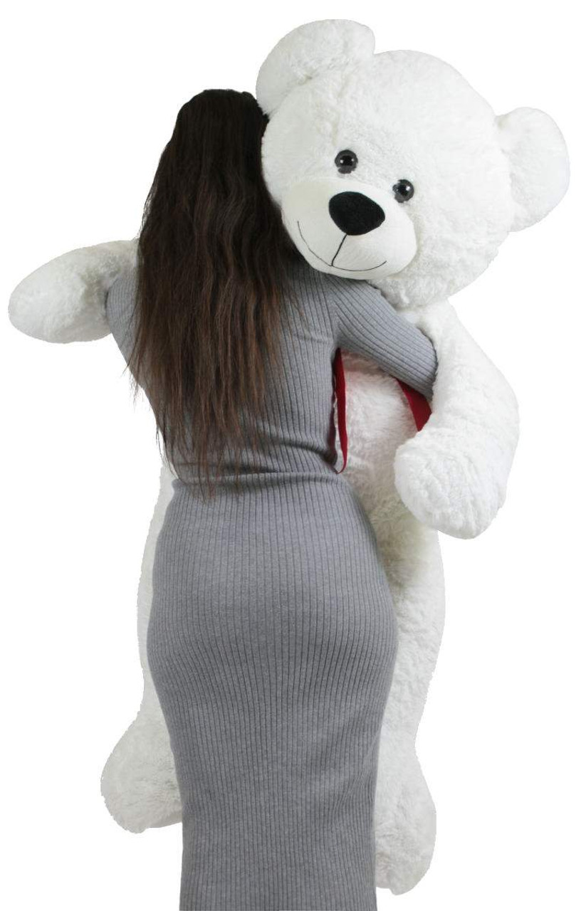 222ba8f6663 Giant Teddy Bear 52 Inch White Soft, Premium Quality Big 4 foot Teddybear