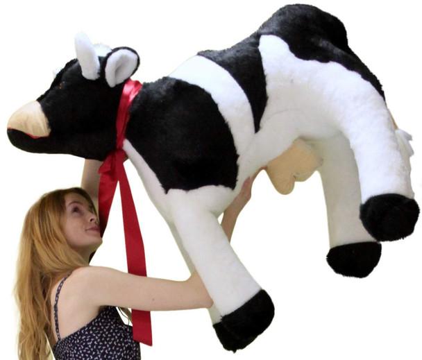American Made Giant Stuffed Cow 42 Inch Big Plush Farm Animal Soft Made in USA America