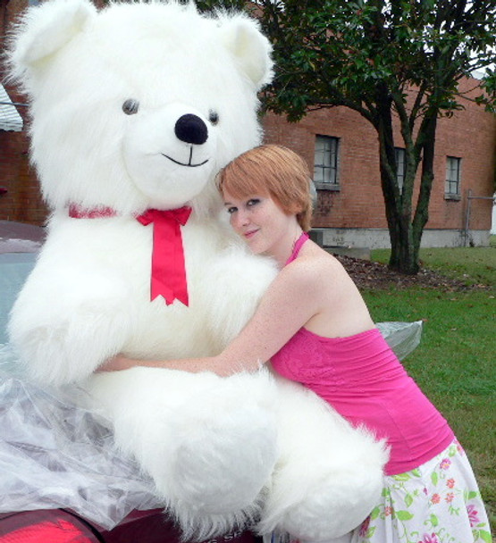 Giant Teddy Bear 54 Inch White Soft Huge Made in USA, Weighs 18 Pounds